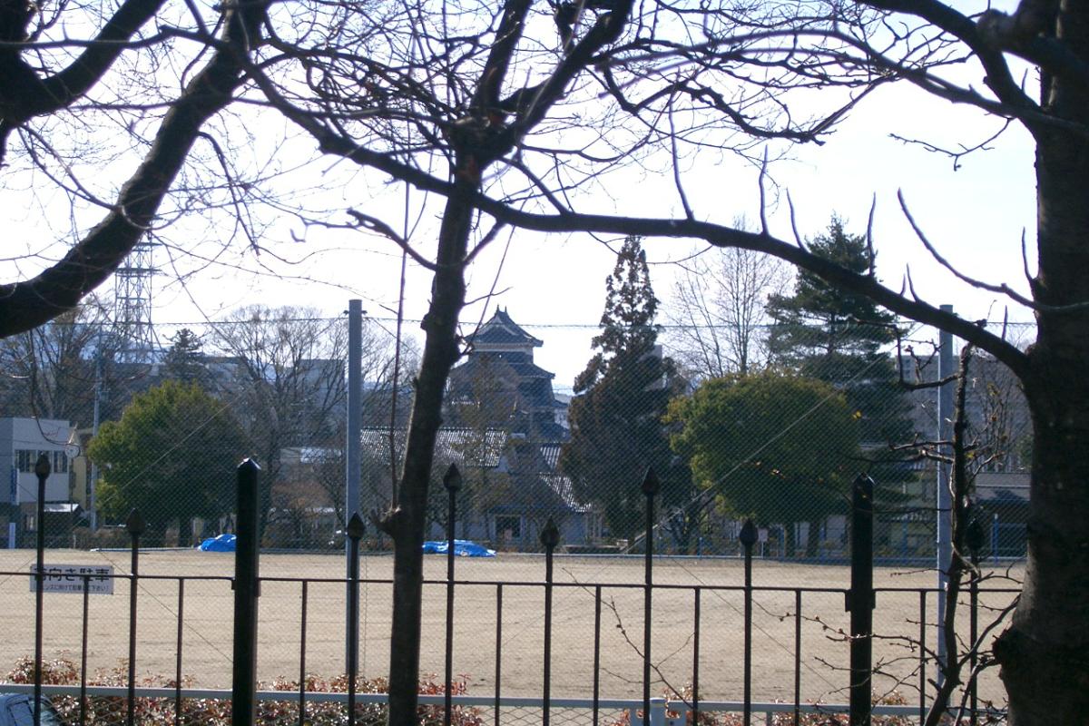 旧開智学校からみる松本城