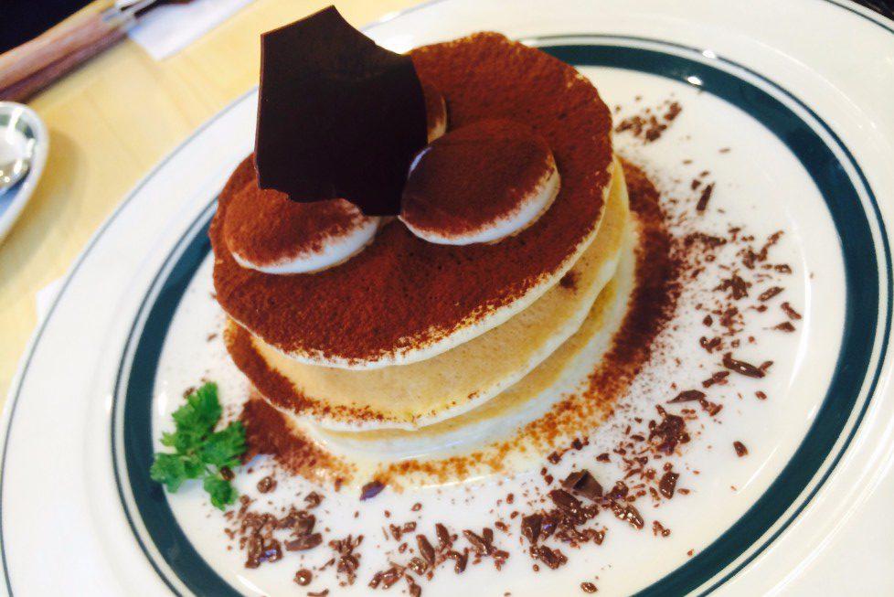 gram松本店のティラミスのパンケーキ